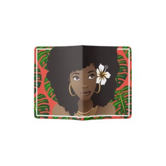 Tropical Natural Beauty Red Passport Holder
