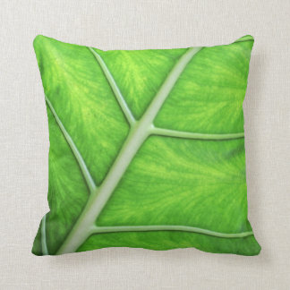 Tropical Nature Green Leaf Photography Cushion