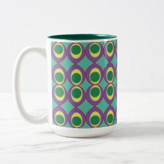 Tropical Neon fish eye Two-Tone Coffee Mug