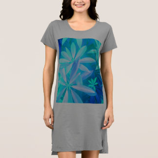 Tropical neon foliage dress