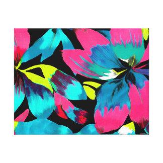 Tropical Neon Splash in Paradise Canvas Print