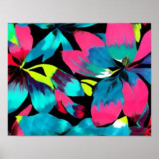 Tropical Neon Splash in Paradise Poster