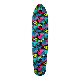 Tropical Neon Splash in Paradise Skateboard