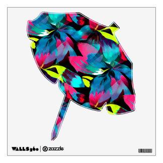Tropical Neon Splash in Paradise Wall Sticker