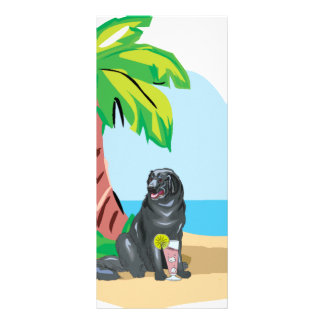 Tropical Newfie Rack Card Template