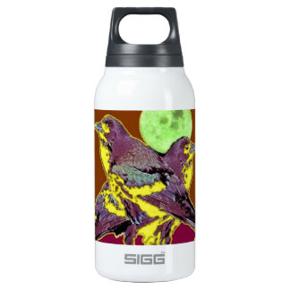 Tropical Night Birds Green Moon by Sharles 10 Oz Insulated SIGG Thermos Water Bottle