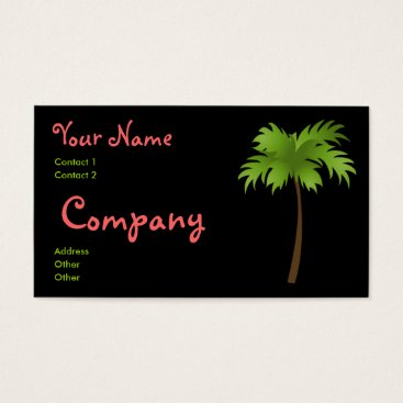 Professional Business Tropical Night Business Card