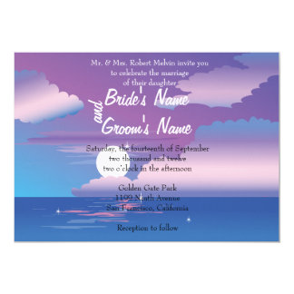 Tropical Night  Floral Wedding Invitation