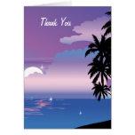 Tropical Night Thank You Wedding  Card