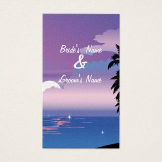 Tropical Night  Website Wedding Card