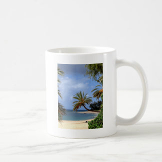Tropical North Shore Beach, Oahu, Hawaii Coffee Mug