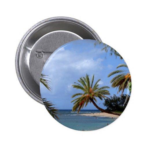 Tropical North Shore Beach, Oahu, Hawaii Pins