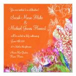 "Tropical Oasis Invitation 5.25"" Square Invitation Card"
