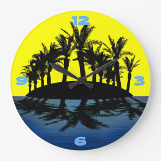 Tropical Oasis Large Clock