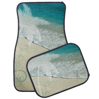 Tropical Ocean and Palm Tree Car Floor Mat