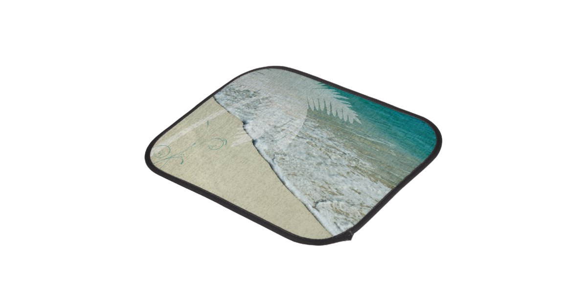 Tropical Ocean And Palm Tree Car Floor Mat Zazzle Com