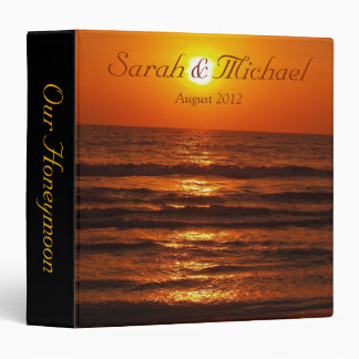 Tropical Ocean Beach Sunset Honeymoon Binder