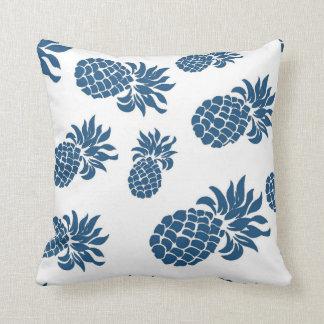 Tropical Ocean Blue Summer Pineapple Pillow