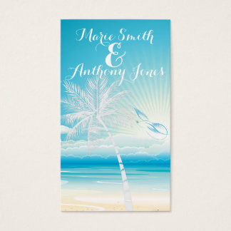 TROPICAL OCEAN DREAMS Website Wedding Card