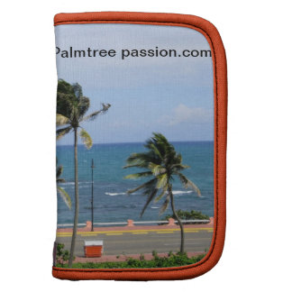 tropical ocean lanscape with palm trees organizer