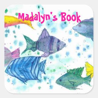 Tropical Ocean of Fish Custom Name Book Plate