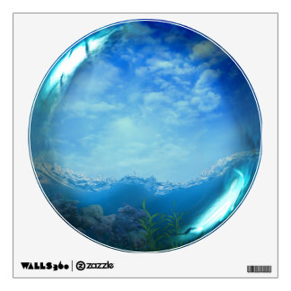 Tropical Ocean Scene Glass Sphere Wall Decal