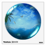 Tropical Ocean Scene Glass Sphere Wall Decal