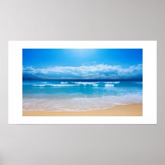 Tropical Ocean View Poster Print
