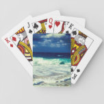 """Tropical Ocean Waves Playing Cards<br><div class=""""desc"""">Photography: An exotic beach with a clear view of the ocean during a cloudy day. New Providence Island,  Nassau,  Bahamas.  Customize these playing cards the way you want! :)</div>"""