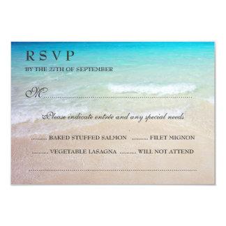 Tropical Ocean Wedding RSVP With Entrées Card