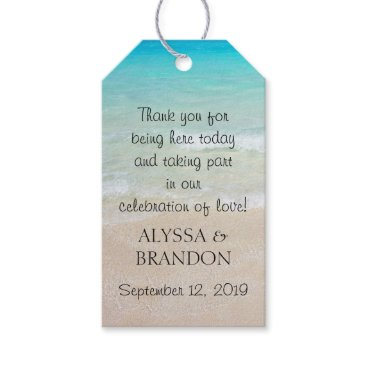 sandpiperWedding Tropical Ocean Wedding Thank You Favor Tags