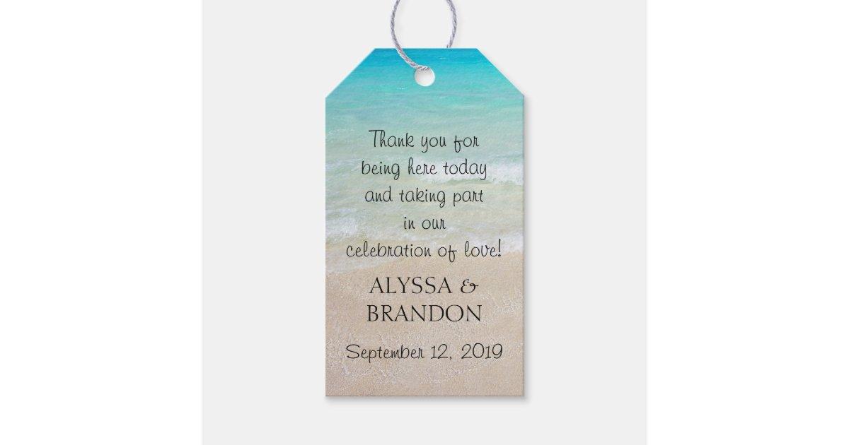 Wedding Favor Tags Thank You Wording : Tropical Ocean Wedding Thank You Favor Tags Zazzle