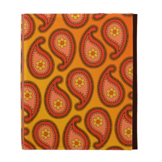 Tropical Orange and Yellow Paisley Pattern iPad Cases