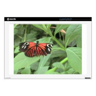 Tropical orange butterfly laptop skin