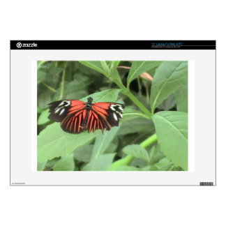 Tropical orange butterfly laptop decals
