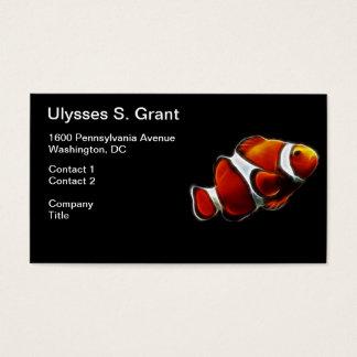 Tropical Orange Clownfish Clown Fish Business Card