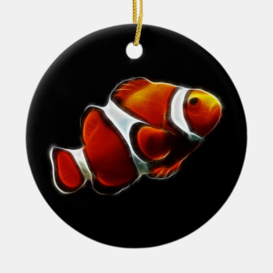 Tropical Orange Clownfish Clown Fish Ceramic Ornament