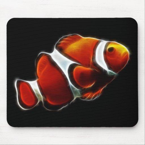 Tropical Orange Clownfish Clown Fish Mouse Pad