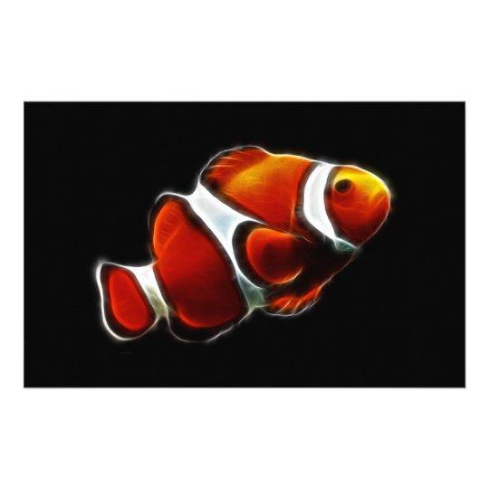 Tropical Orange Clownfish Clown Fish Stationery