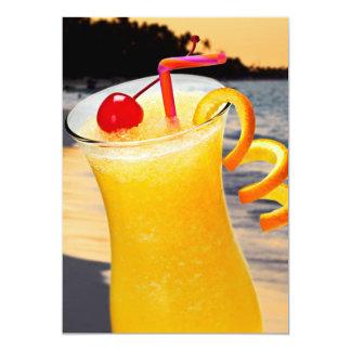 Tropical orange drink card