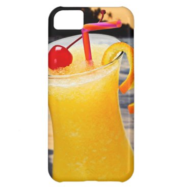 Beach Themed Tropical orange drink iPhone 5C cover
