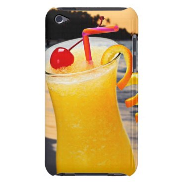 Beach Themed Tropical orange drink iPod touch case