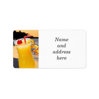 Tropical orange drink label