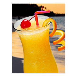 Tropical orange drink postcard