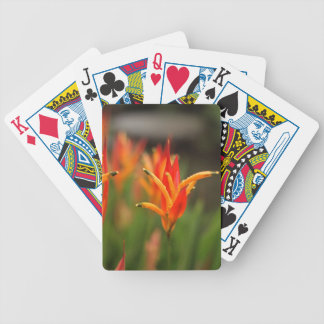 Tropical orange flower playing deck bicycle playing cards