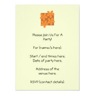 Tropical orange flowers on cream. custom invitation