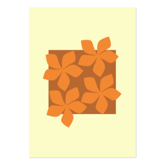 Tropical orange flowers on cream. large business card