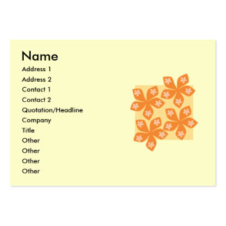 Tropical orange flowers on cream. Pretty. Large Business Card