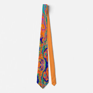 Tropical Orange Fluid neck tie