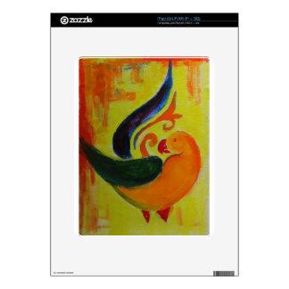 tropical orange iPad decal